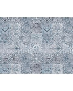 Photography Background in Fabric Vintage Blue Tile / Backdrop 2056