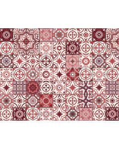 Photography Background in Fabric Red Tile Newborn / Backdrop 2044