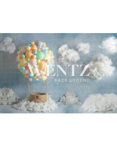 Photography Background in Fabric Balloon in the Sky / Backdrop 2290