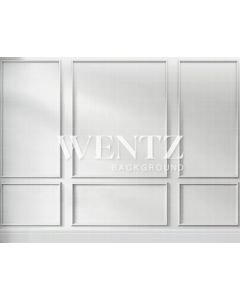 Photography Background in Fabric White Wall Boiserie / Backdrop 2220