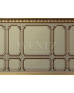 Photography Background in Fabric Boiserie Gold / Backdrop 2053