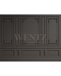 Photography Background in Fabric Boiserie Dark with Details / Backdrop 2054
