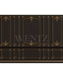 Photography Background in Fabric Boiserie Dark and Golden / Backdrop 2055