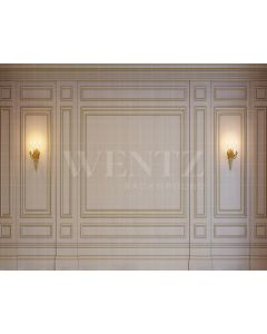 Photography Background in Fabric Boiserie Wall with Light / Backdrop 1867
