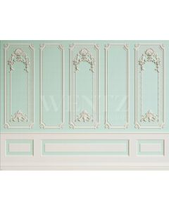 Photography Background in Fabric Boiserie Green Water / Backdrop 2052