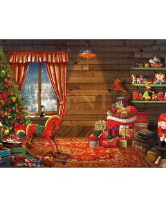 Photography Background in Fabric Christmas Toys / Backdrop 2148