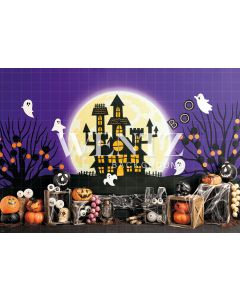 Photography Background in Fabric Haunted House / Backdrop 2281