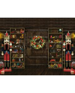 Photography Background in Fabric Christmas Scenario Nutcracker / 2168