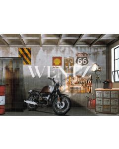 Photography Background in Fabric Father's Day Set with Motorcycle / Backdrop 2273