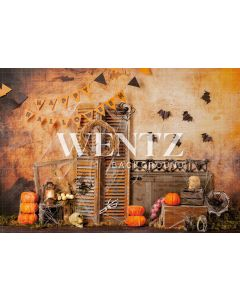 Photography Background in Fabric Halloween Set / Backdrop 2280