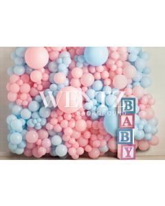 Photography Background in Fabric Gender Reveal / Backdrop 2241