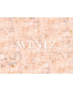 Photography Background in Fabric Light Salmon Brick Floor / Backdrop CW60