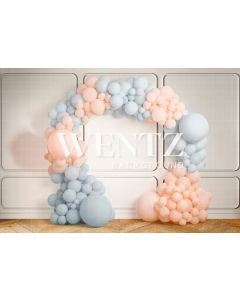 Photography Background in Fabric Gender Reveal / Backdrop 2244
