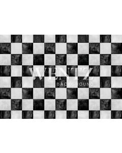 Photography Background in Fabric Texture Checkered Floor / Backdrop 2250