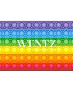 Photography Background in Fabric Colorful Pop It Toy / Backdrop 2361
