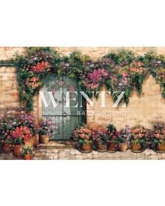 Photography Background in Fabric Flower Facade / Backdrop CW80