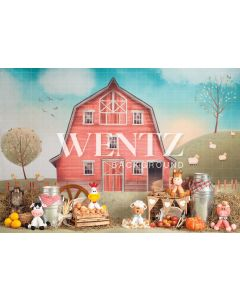 Photography Background in Fabric Little Farm / Backdrop 2248