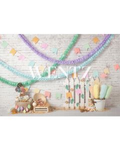 Photography Background in Fabric Country Party / Backdrop 2234