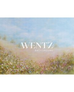 Photography Background in Fabric Floral Hand Painted / Backdrop CW007