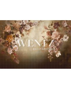 Photography Background in Fabric Flowers Fine Art / Backdrop CW72