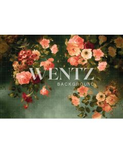 Photography Background in Fabric Flowers Fine Art / Backdrop CW74