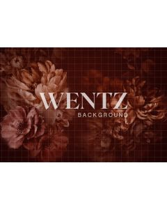 Photography Background in Fabric Flowers Fine Art / Backdrop CW82