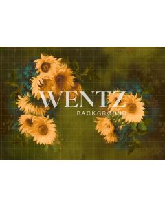 Photography Background in Fabric Flowers Fine Art / Backdrop CW84
