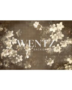 Photography Background in Fabric Flowers Fine Art / Backdrop CW86