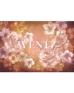 Photography Background in Fabric Flowers Fine Art / Backdrop CW89