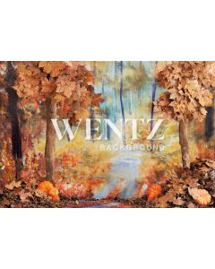 Photography Background in Fabric Fall Forest / Backdrop 2292