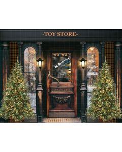 Photography Background in Fabric Christmas Toy Store / Backdrop 2172