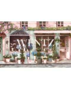 Photography Background in Fabric Florist Store / Backdrop CW76