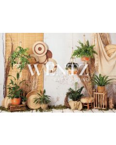 Photography Background in Fabric Boho Wall with Macramé / Backdrop 2237