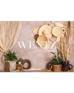 Photography Background in Fabric Boho Wall with Macramé / Backdrop 2245