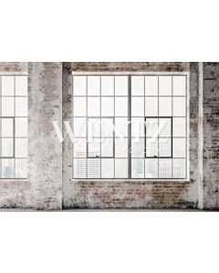 Photography Background in Fabric Brick Wall with Windows / Backdrop 2272