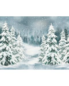 Photography Background in Fabric Christmas Pines / Backdrop 2144