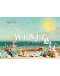 Photography Background in Fabric Beach / Backdrop 2282