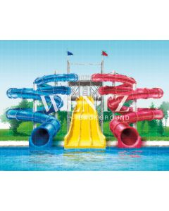 Photography Background in Fabric Summer Swimming Pool / Backdrop 2210