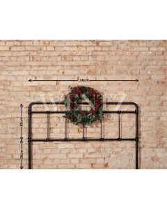 Photography Background in Fabric Headboard Christmas Bed / Backdrop 1962
