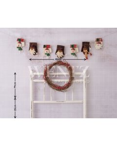 Photography Background in Fabric Bedside Christmas Bed / Backdrop 1604