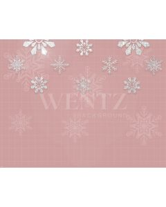 Photography Background in Fabric Snowflake Christmas  / Backdrop 1966