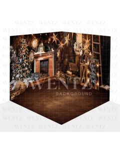 Photography Background in Fabric Christmas Scenario 3D / WTZ100