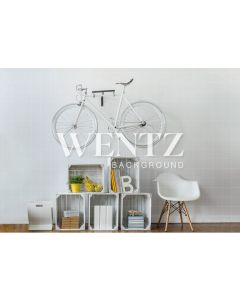 Photography Background in Fabric Room with Bicycle / Backdrop 2265