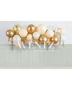 Photography Background in Fabric Cake Smash Gold / Backdrop 2233