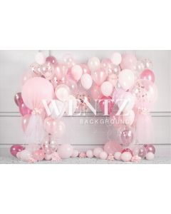 Photography Background in Fabric Cake Smash Pink and White / Backdrop 2228