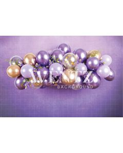 Photography Background in Fabric Cake Smash Purple and Gold / Backdrop 2231