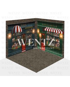 Photography Background in Fabric Christmas Set 3D / WTZ122
