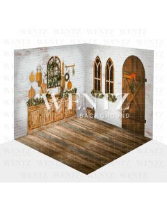 Photography Background in Fabric Christmas Kitchen Set 3D / WTZ124