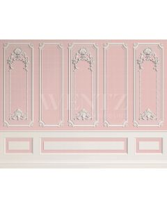 Photography Background in Fabric Boiserie White and Pink / Backdrop 2061
