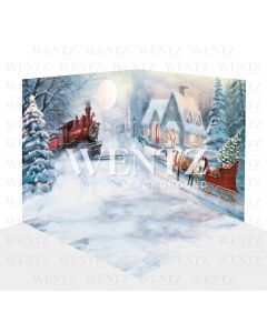 Photography Background in Fabric Christmas Set 3D / WTZ120